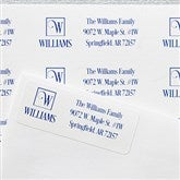 Square Monogram Personalized Return Address Labels - 17921