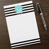 Modern Stripe Personalized Notepad - 17923