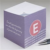 Sophisticated Quotes Personalized Paper Note Cube - 17924