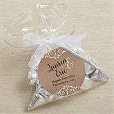 Rustic Chic Personalized Party Favor Stickers - 17933