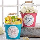 Get Well Soon Personalized Mini Metal Bucket - 17943