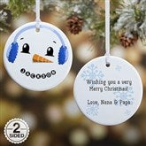 2-Sided Snowman Personalized Ornament - 17948-2