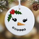 1-Sided Snowman Personalized Ornament - 17948-1