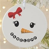1-Sided Snowman Personalized Ornament-Large - 17948-1L