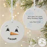 2-Sided Snowman Personalized Ornament-Large - 17948-2L