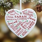 1-Sided Close To Her Heart Personalized Heart Ornament - 17949-1