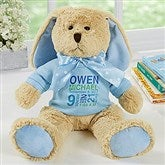 Baby's Birthday Personalized Plush Bunny- Blue - 17954-B