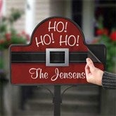 Ho! Ho! Ho! Santa Belt Personalized Magnetic Garden Sign - 17959-M
