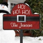 Ho! Ho! Ho! Santa Belt Personalized Yard Stake with Magnet - 17959-S