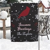 Wintertime Wishes Personalized Garden Flag - 17961