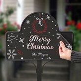 Wintertime Wishes Personalized Magnetic Garden Sign - 17962-M