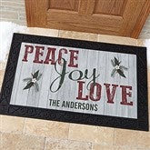 Peace, Love, Joy Personalized Doormat- 20x35 - 17965-M