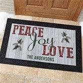 Peace, Joy, Love Personalized Doormat- 20x35 - 17965-M