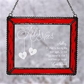 You're All I Need Personalized Suncatcher - 17995