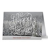 White Christmas Personalized Christmas Cards - 17997