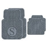 Chevron Monogram Personalized AquaShield™ Molded Car Mats - Full Set - 18001D-Full