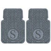Chevron Monogram Personalized AquaShield™ Molded Car Mats - Front Set - 18001D-Front