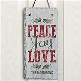 Peace, Joy, Love Personalized Slate Plaque - 18014