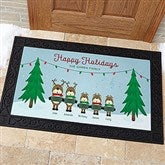 Reindeer Family Character Personalized Doormat- 20x35 - 18018-M