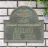 Family Tree Personalized Family Aluminum Plaque - 18022D