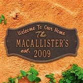 Fluted Arch Personalized Aluminum Welcome Plaque - 18029D