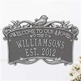 Songbird Welcome Personalized Aluminum Wedding Plaque - 18031D