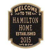 Heritage Welcome Personalized Aluminum Plaque - 18034D