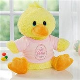 Just Hatched New Baby Personalized Quacking Plush Duck- Girl - 18050-G