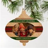 Classic Christmas Photo Wood Ornament