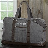 Men's Signature Embroidered Weekender Duffel Bag- Name - 18054-N