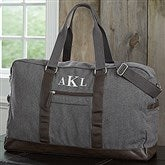 Men's Signature Embroidered Weekender Duffel Bag- Monogram - 18054-M