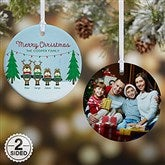 2-Sided Reindeer Family Personalized Ornament - 18063-2