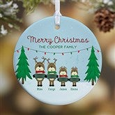 1-Sided Reindeer Family Personalized Ornament-Small - 18063-1