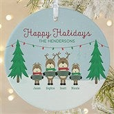 1-Sided Reindeer Family Personalized Ornament-Large - 18063-1L
