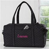 Embroidered Quilted Duffel Bag- Name - 18064-N