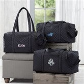 Embroidered Quilted Duffel Bag - 18064-N