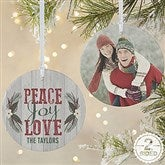 2-Sided Peace, Joy, Love Personalized Ornament-Large - 18065-2L