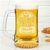 Beer My Valentine Personalized 25oz. Beer Mug