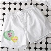 Conversation Hearts Personalized White Boxers - 18082-W