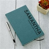 Bold Style Personalized Teal Writing Journal - 18094