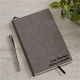Signature Series Personalized Charcoal Writing Journal - 18095-C