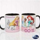 Disney® Princess Personalized Coffee Mug 11oz.- Black - 18099-B