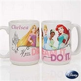 Disney® Princess Personalized Coffee Mug 15 oz.- White - 18099-L