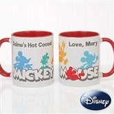 Disney® Mickey Mouse Silhouette Personalized Coffee Mug 11oz.- Red - 18100-R