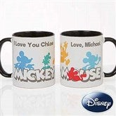 Disney® Mickey Mouse Silhouette Personalized Coffee Mug 11oz.- Black - 18100-B