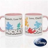 Disney® Mickey Mouse Silhouette Personalized Coffee Mug 11oz.- Pink - 18100-P