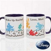 Disney® Mickey Mouse Silhouette Personalized Coffee Mug 11oz.- Blue - 18100-BL