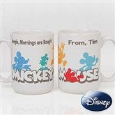 Disney® Mickey Mouse Silhouette Personalized Coffee Mug 15 oz.- White - 18100-L