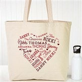 Close To Her Heart Personalized Canvas Tote - 18104