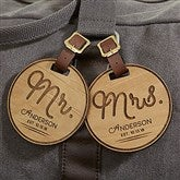 Circle Of Love Personalized Wood Bag Tag - 18118